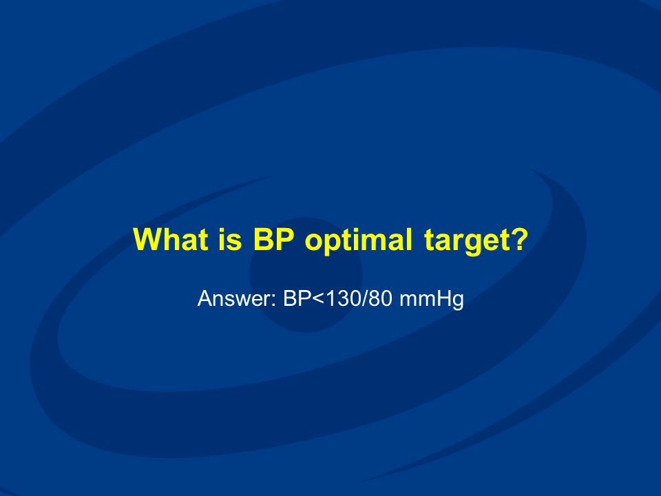 What is BP optimal target