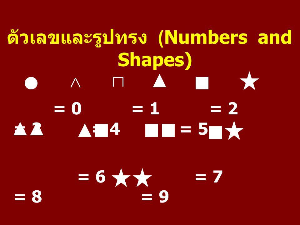 ตัวเลขและรูปทรง (Numbers and Shapes)