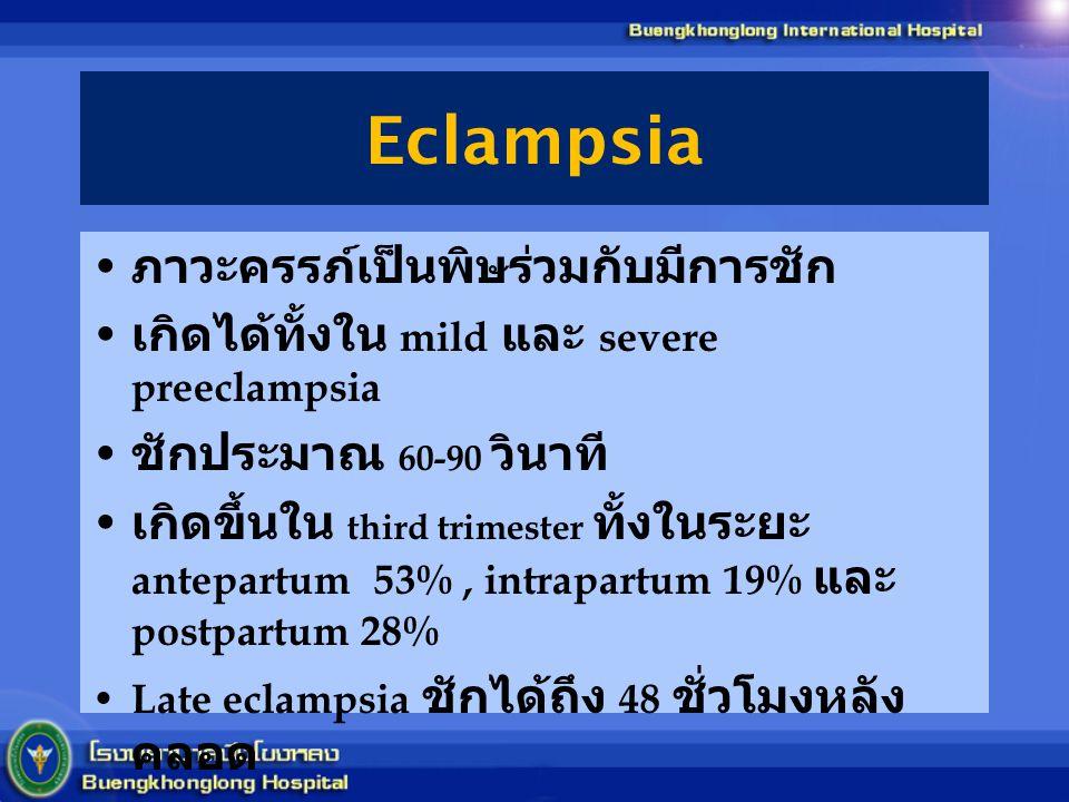 Eclampsia ภาวะครรภ์เป็นพิษร่วมกับมีการชัก