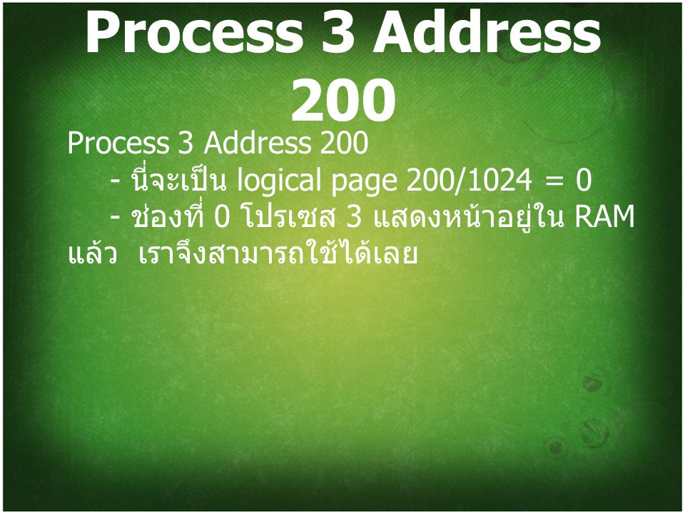 Process 3 Address 200