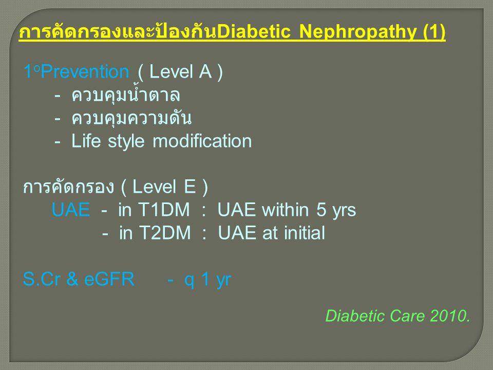 การคัดกรองและป้องกันDiabetic Nephropathy (1)