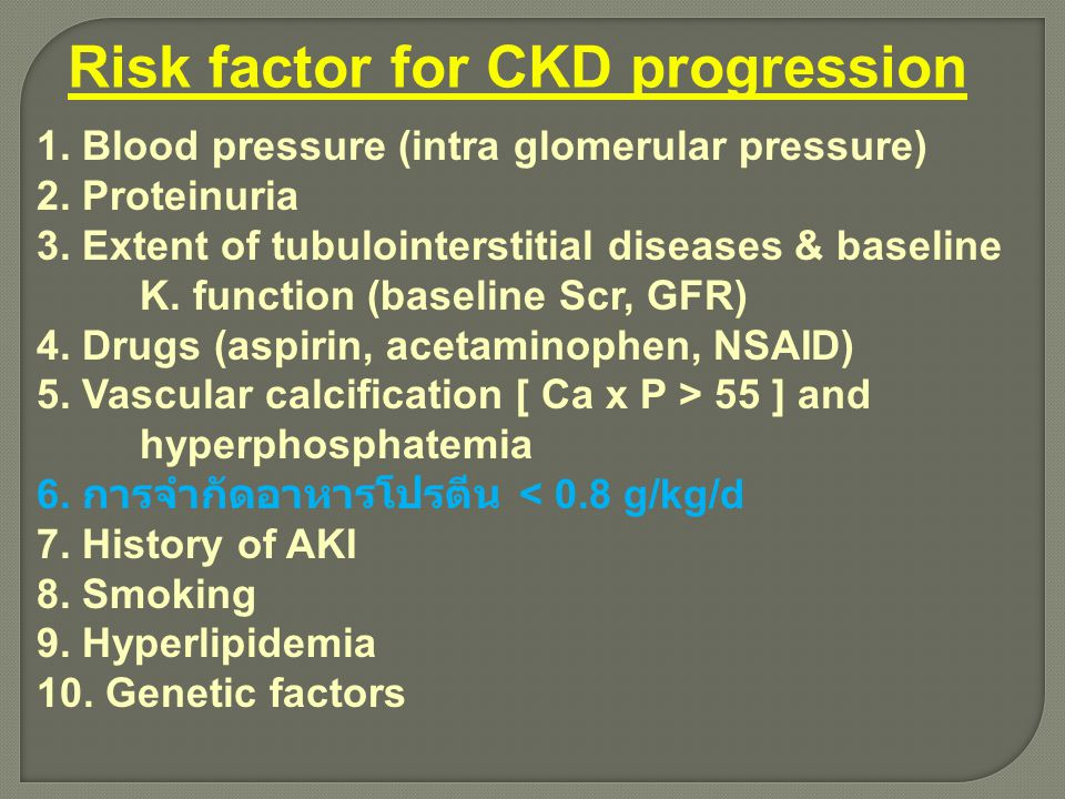 Risk factor for CKD progression