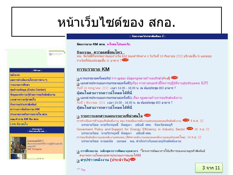 หน้าเว็บไซต์ของ สกอ. 3 จาก 11