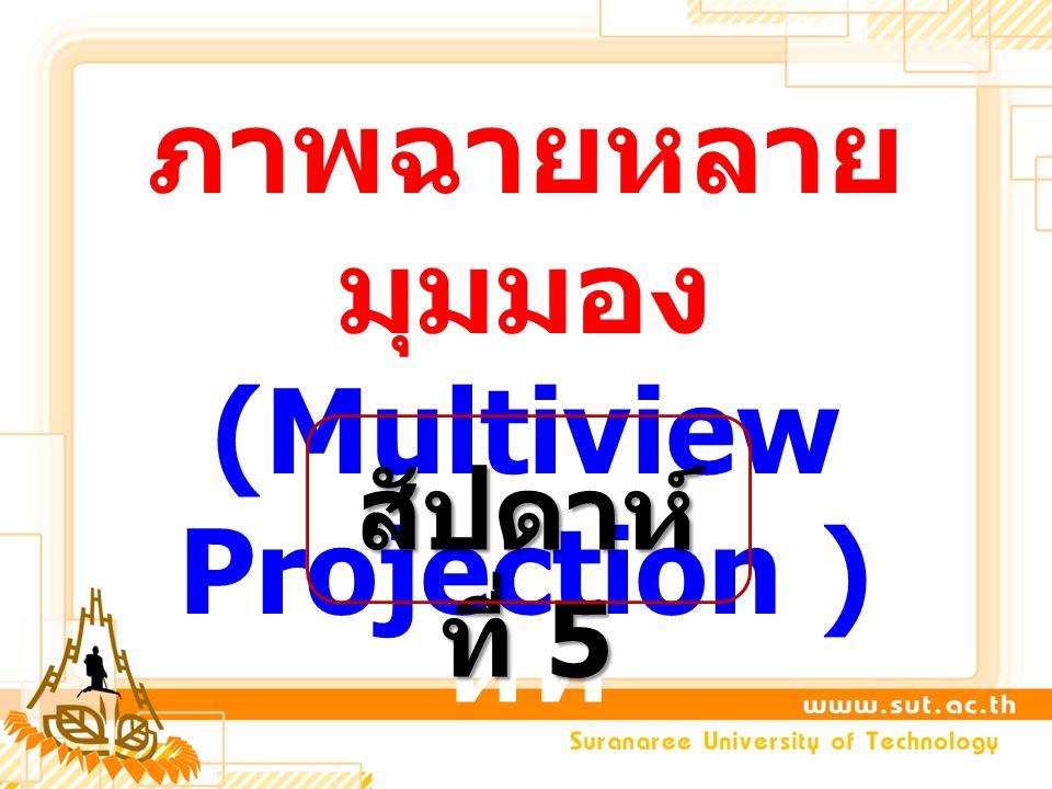 ภาพฉายหลายมุมมอง (Multiview Projection )