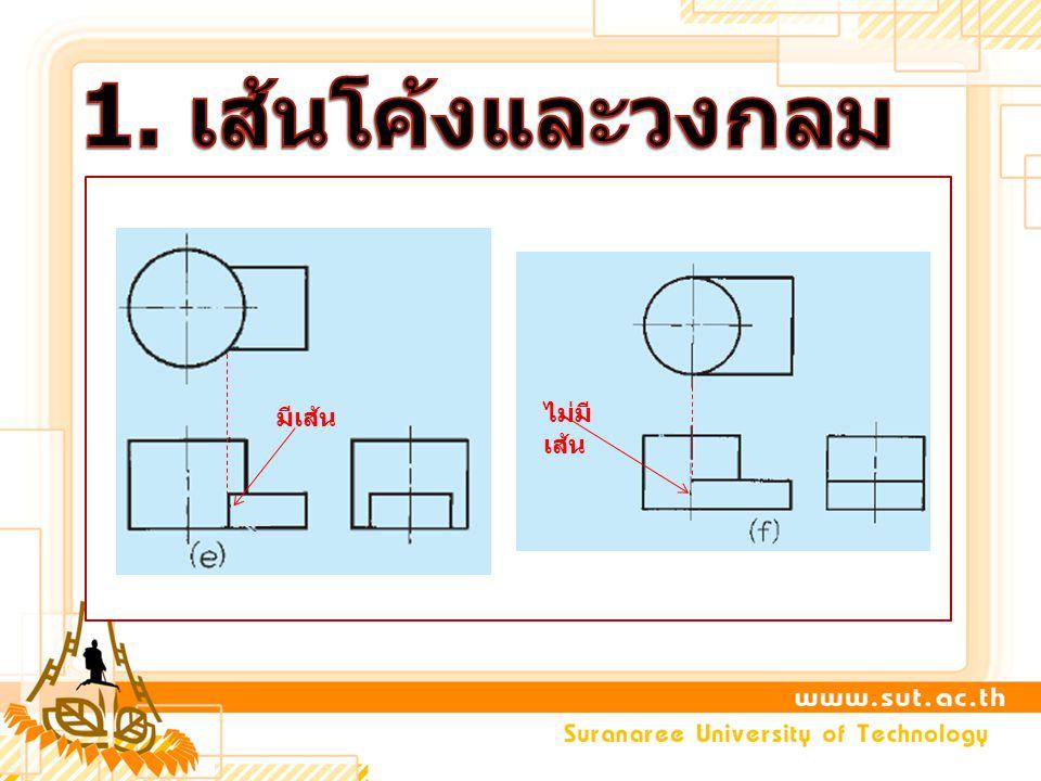 1. เส้นโค้งและวงกลม มีเส้น ไม่มีเส้น