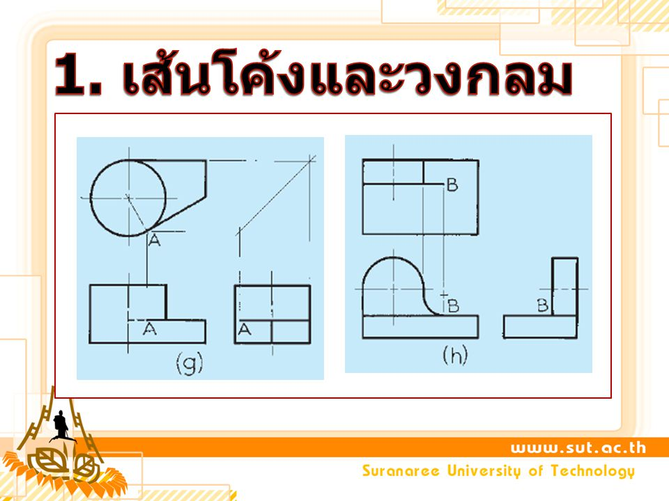 1. เส้นโค้งและวงกลม