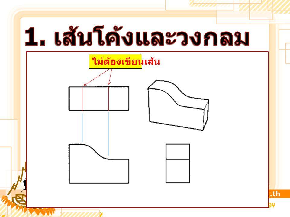 1. เส้นโค้งและวงกลม ไม่ต้องเขียนเส้น
