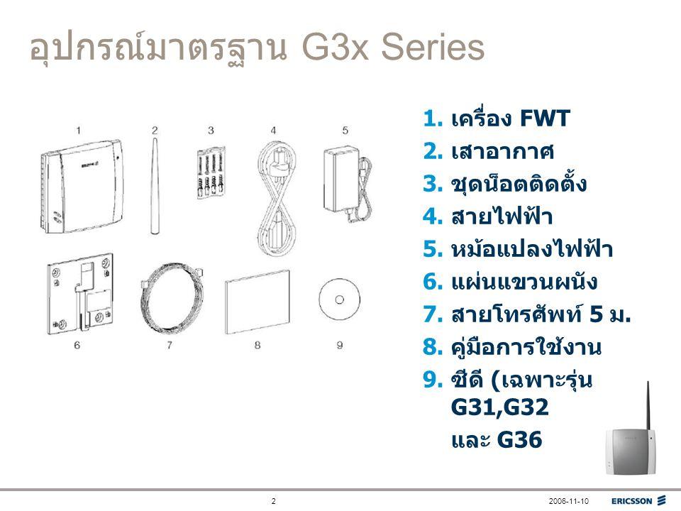 อุปกรณ์มาตรฐาน G3x Series