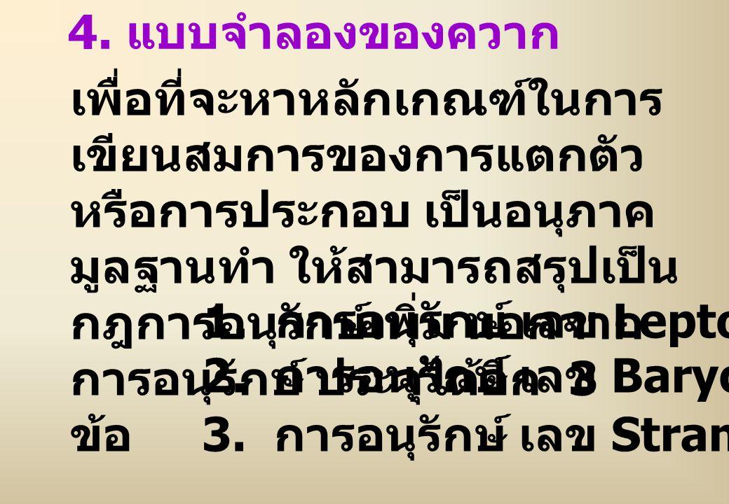 4. แบบจำลองของควาก