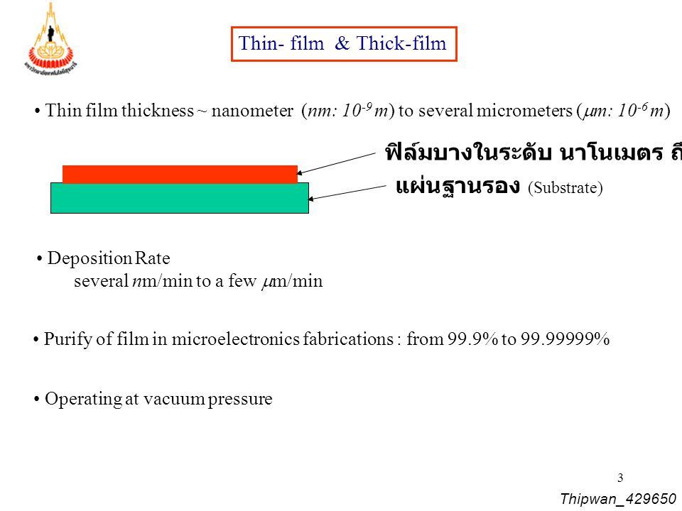 ฟิล์มบางในระดับ นาโนเมตร ถึงไมโครเมตร แผ่นฐานรอง (Substrate)