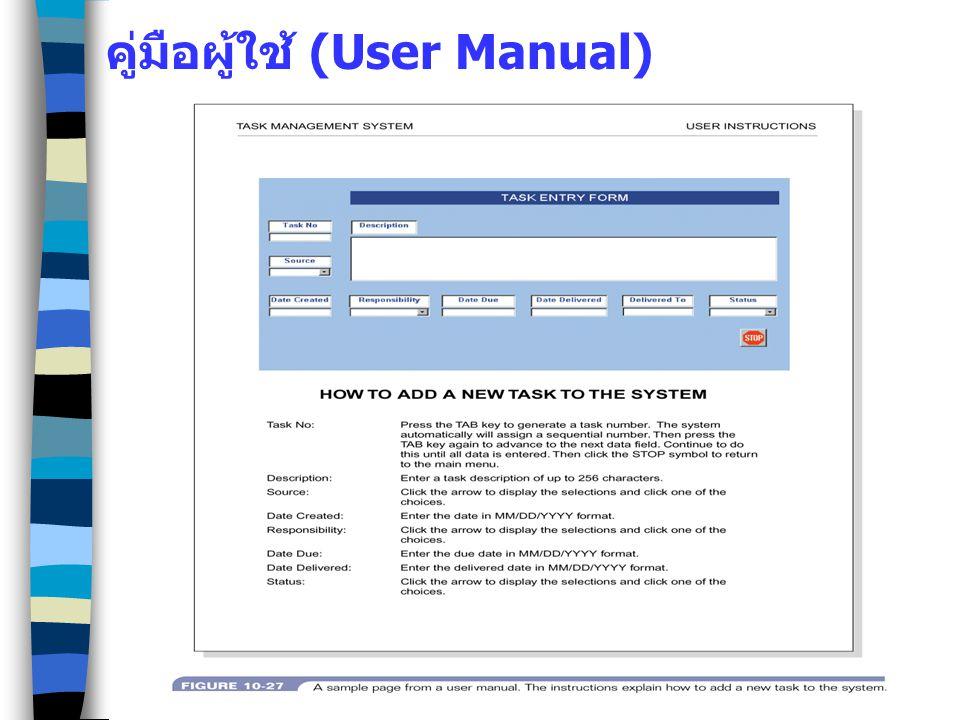 คู่มือผู้ใช้ (User Manual)