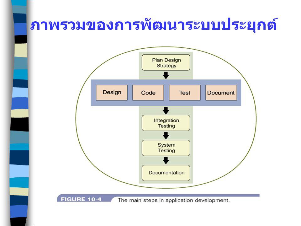 ภาพรวมของการพัฒนาระบบประยุกต์