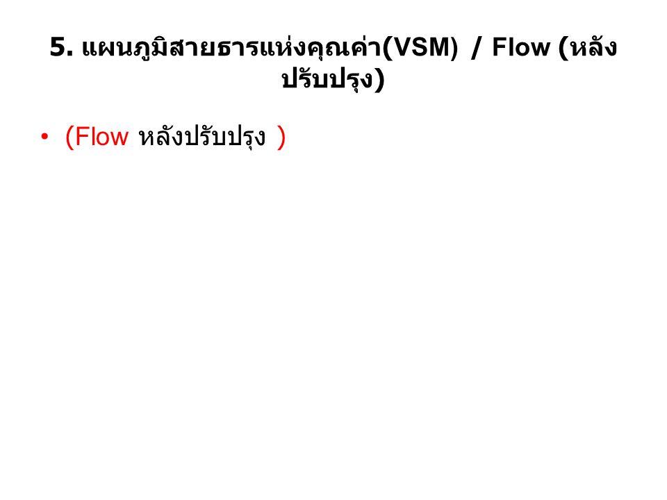 5. แผนภูมิสายธารแห่งคุณค่า(VSM) / Flow (หลังปรับปรุง)
