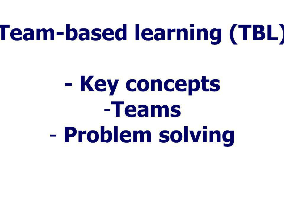 Team-based learning (TBL)