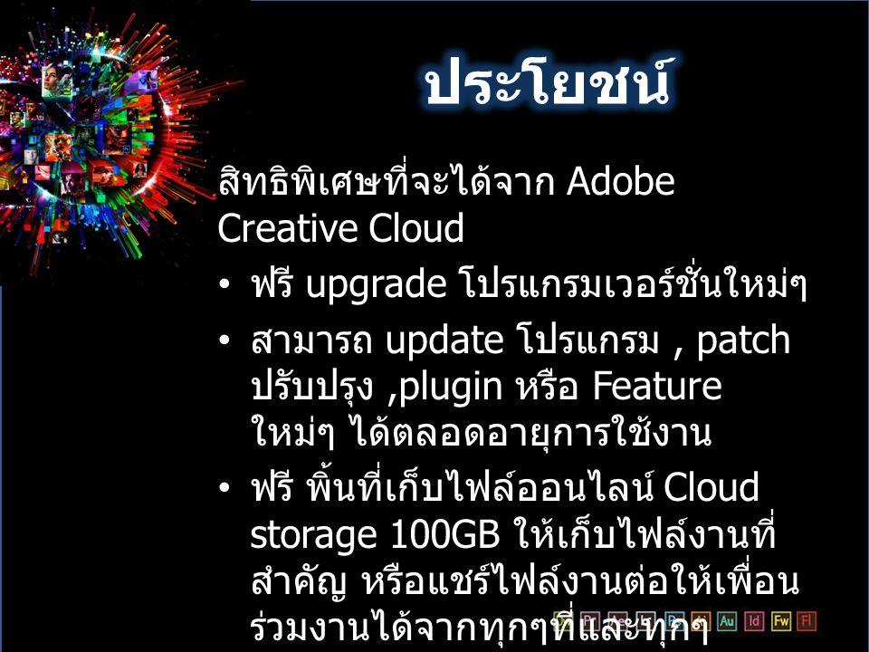 ประโยชน์ สิทธิพิเศษที่จะได้จาก Adobe Creative Cloud
