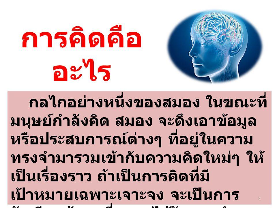การคิดคืออะไร