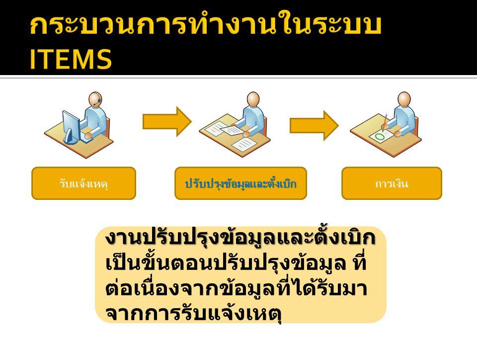 กระบวนการทำงานในระบบ ITEMS