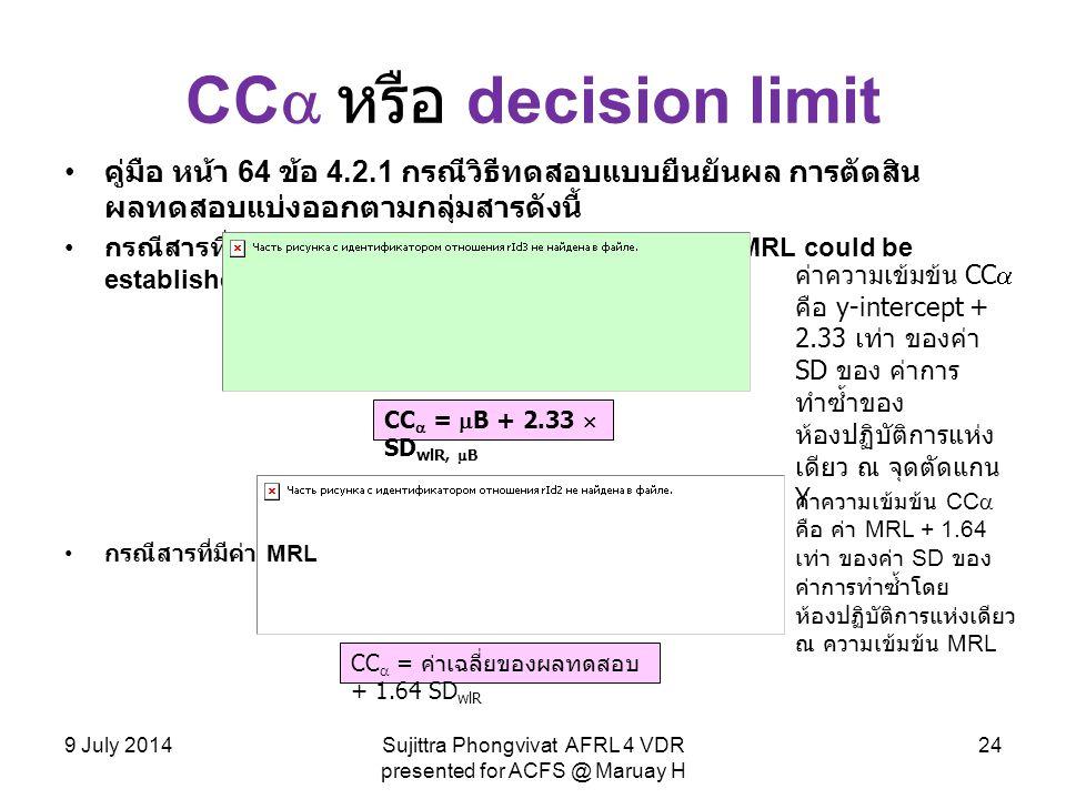 CC หรือ decision limit