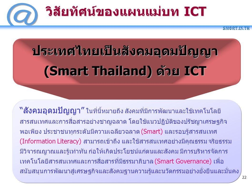 วิสัยทัศน์ของแผนแม่บท ICT