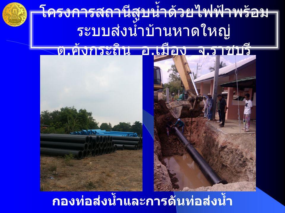 กองท่อส่งน้ำและการดันท่อส่งน้ำ