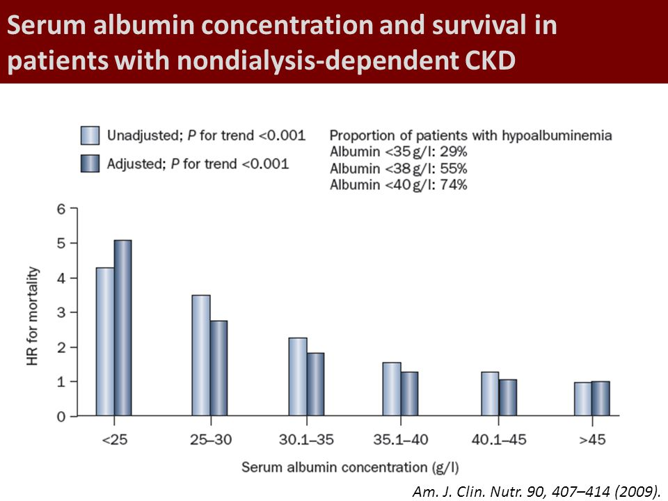 Serum albumin concentration and survival in patients with nondialysis-dependent CKD
