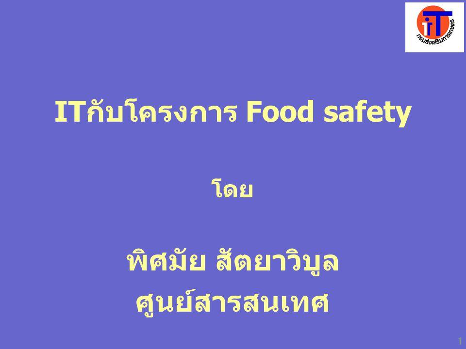ITกับโครงการ Food safety
