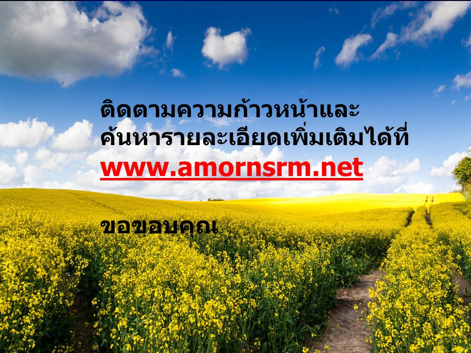 www.amornsrm.net ติดตามความก้าวหน้าและค้นหารายละเอียดเพิ่มเติมได้ที่