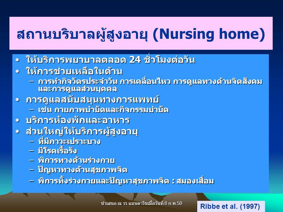 สถานบริบาลผู้สูงอายุ (Nursing home)
