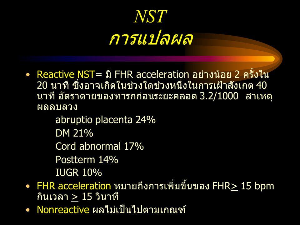 NST การแปลผล
