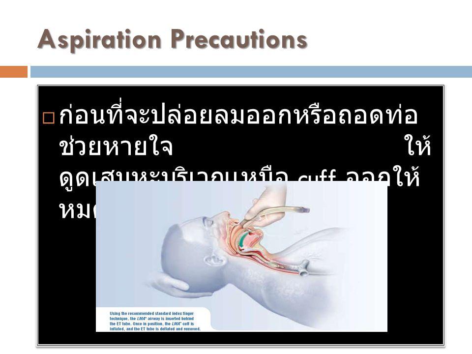 Aspiration Precautions