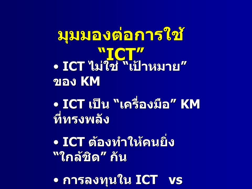 มุมมองต่อการใช้ ICT