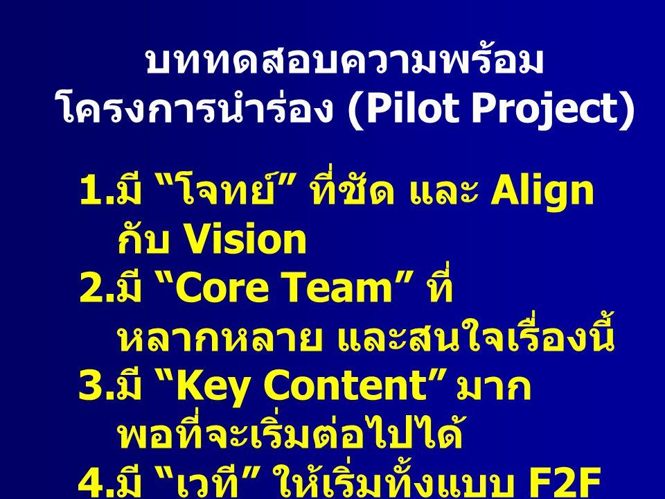 โครงการนำร่อง (Pilot Project)