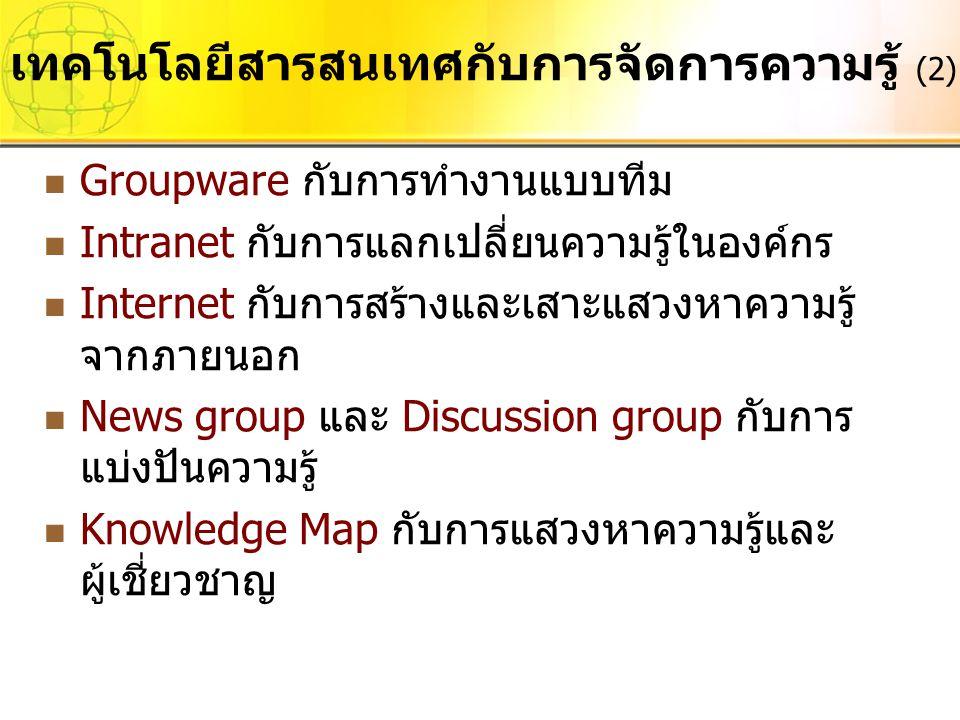เทคโนโลยีสารสนเทศกับการจัดการความรู้ (2)
