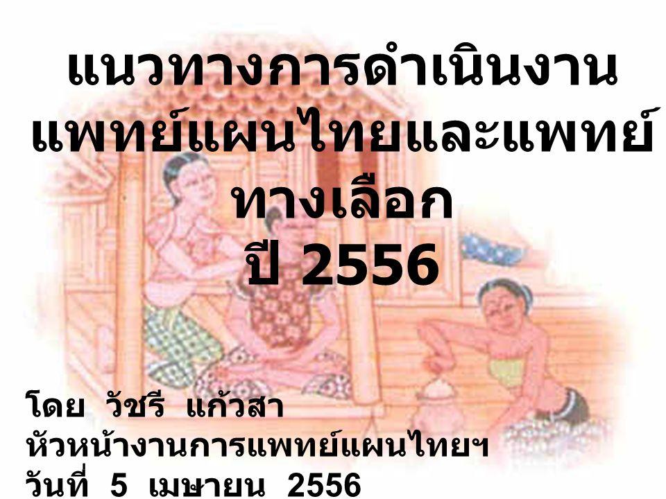 แพทย์แผนไทยและแพทย์ทางเลือก