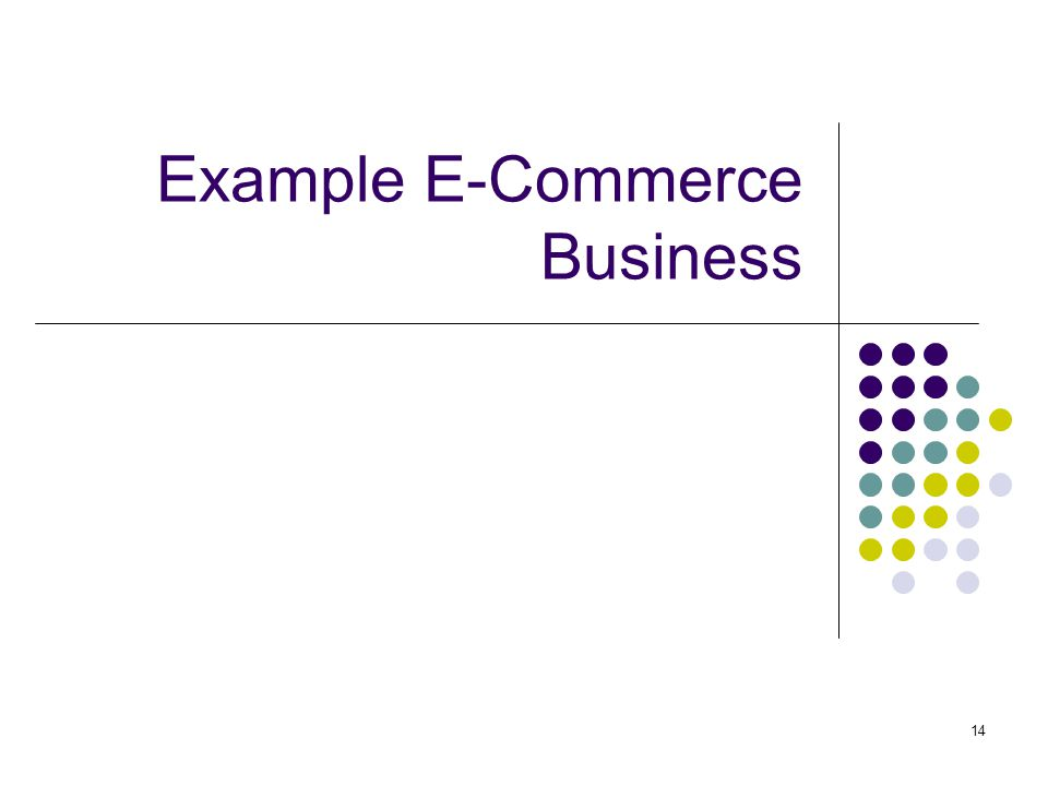 Example E-Commerce Business