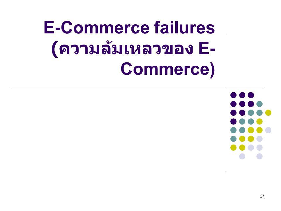E-Commerce failures (ความล้มเหลวของ E-Commerce)