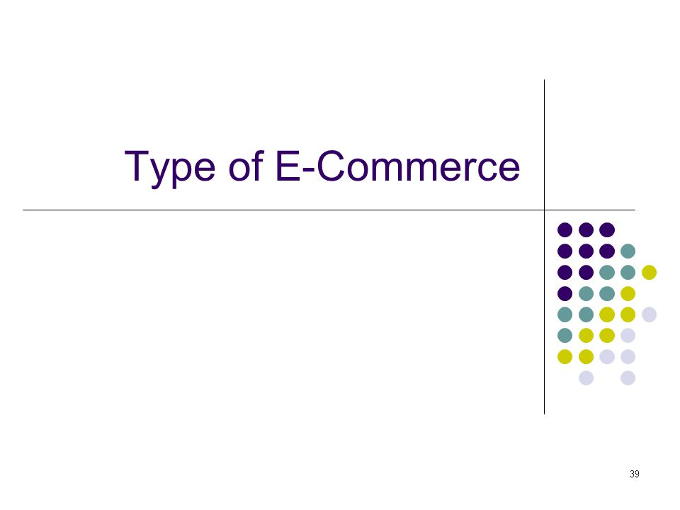 Type of E-Commerce