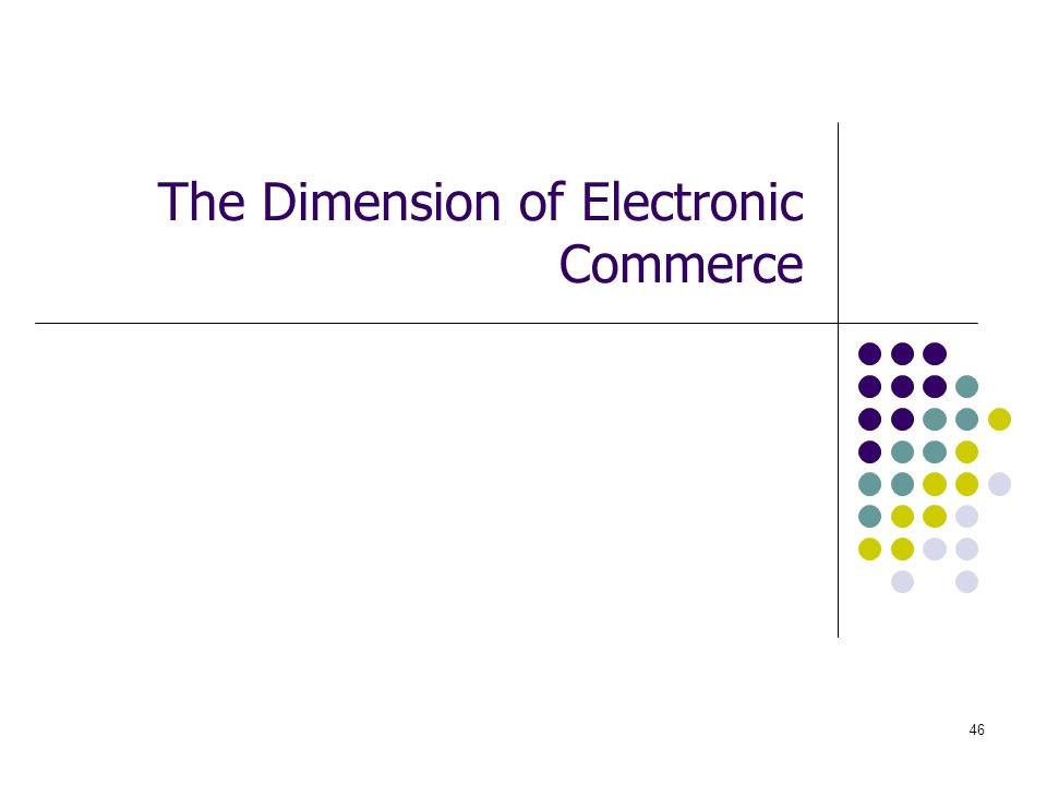 The Dimension of Electronic Commerce