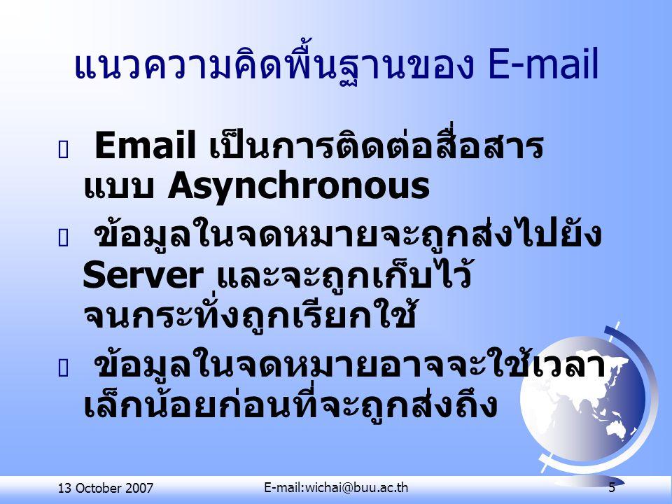 แนวความคิดพื้นฐานของ E-mail