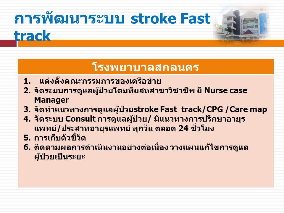 การพัฒนาระบบ stroke Fast track