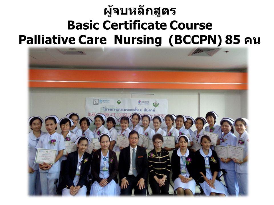 ผู้จบหลักสูตร Basic Certificate Course Palliative Care Nursing (BCCPN) 85 คน
