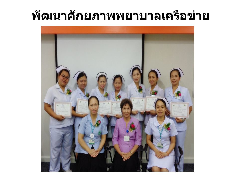 พัฒนาศักยภาพพยาบาลเครือข่าย