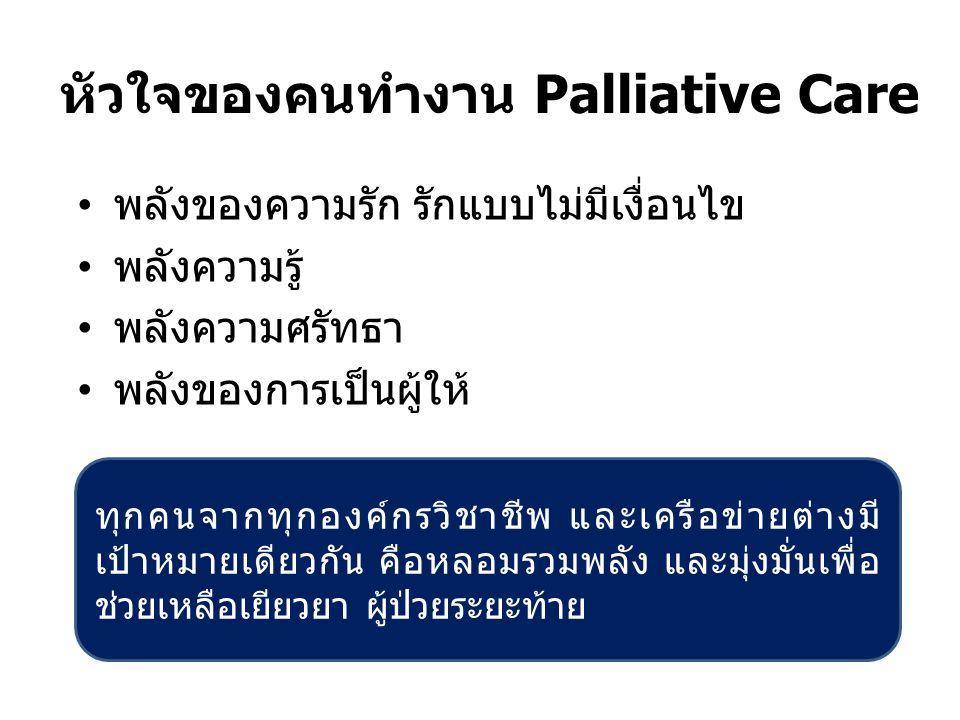 หัวใจของคนทำงาน Palliative Care