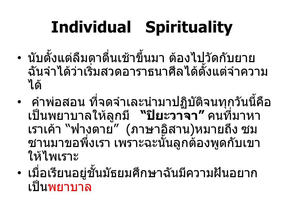 Individual Spirituality