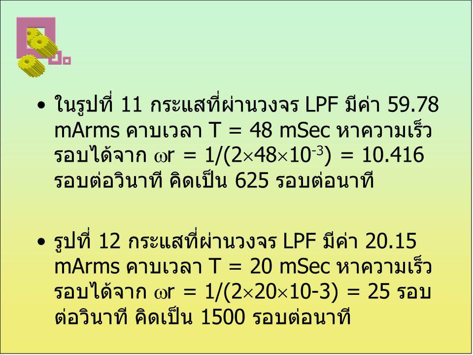 ในรูปที่ 11 กระแสที่ผ่านวงจร LPF มีค่า 59