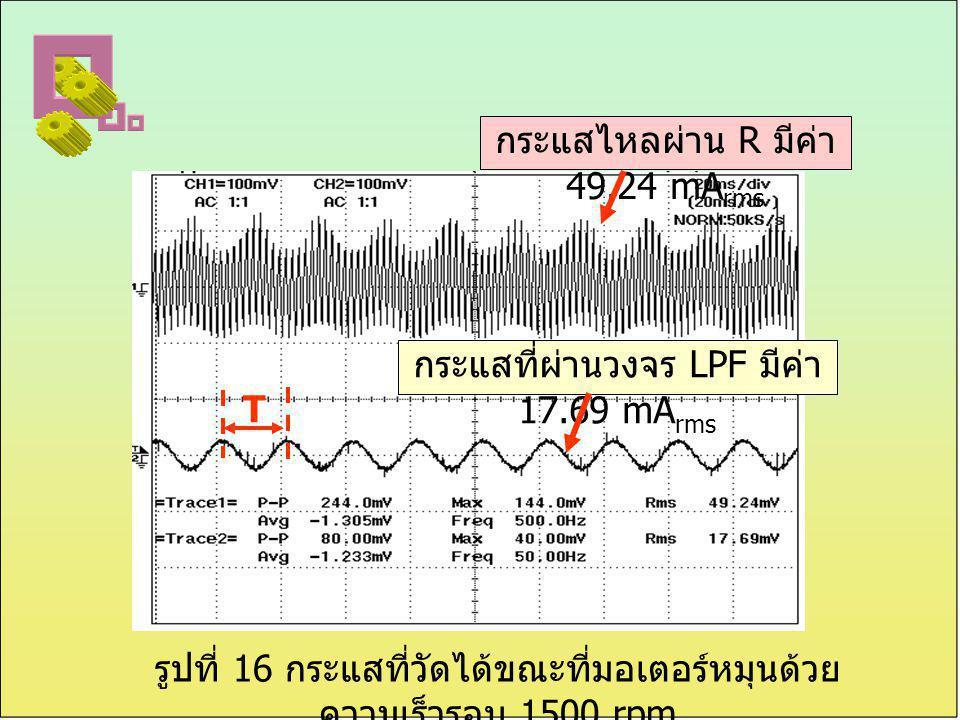 กระแสไหลผ่าน R มีค่า 49.24 mArms
