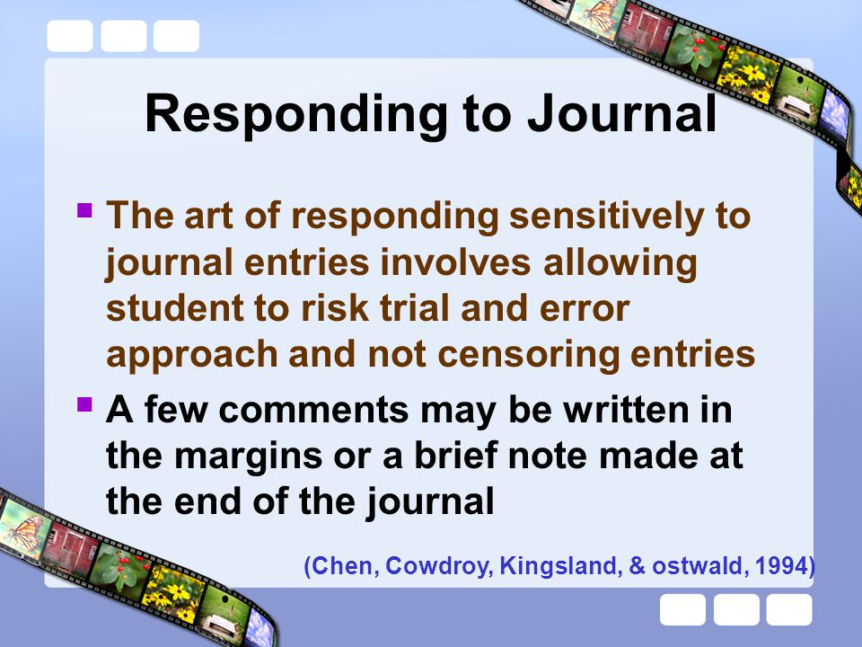 Responding to Journal