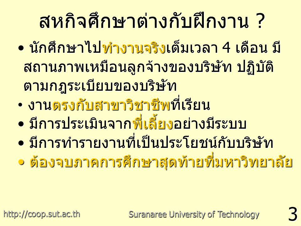 สหกิจศึกษาต่างกับฝึกงาน