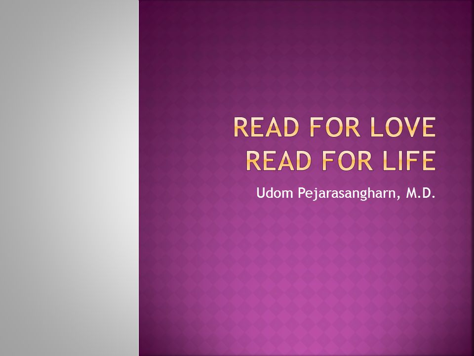 Read for love read for life