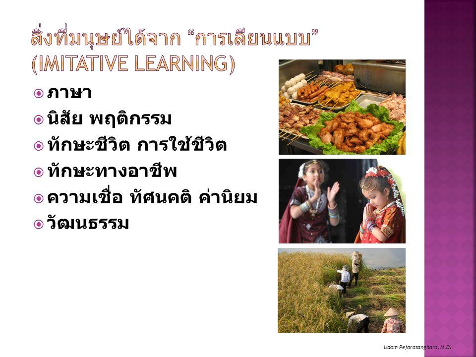 สิ่งที่มนุษย์ได้จาก การเลียนแบบ (Imitative Learning)